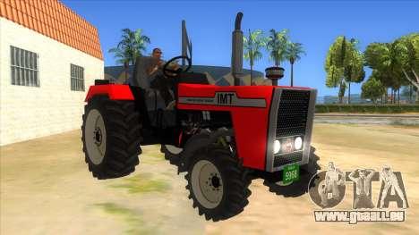 IMT Traktor pour GTA San Andreas vue arrière