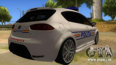 Seat Leon Cupra Romania Police für GTA San Andreas rechten Ansicht