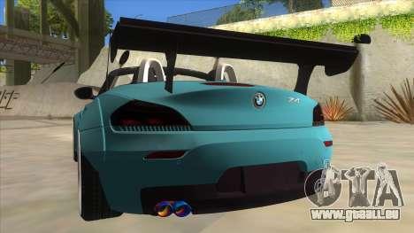 BMW Z4 Liberty Walk Performance für GTA San Andreas Unteransicht