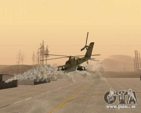 Eine Mi-24 Am Krokodil für GTA San Andreas obere Ansicht