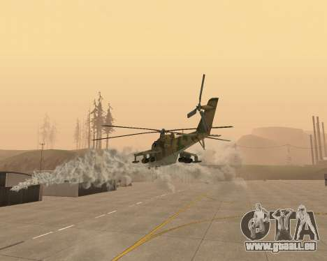 Un Mi-24 Au Crocodile pour GTA San Andreas vue de dessus