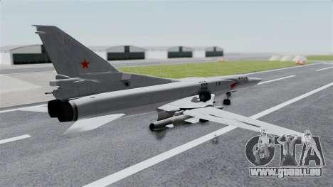 TU-22M3 Gris pour GTA San Andreas laissé vue
