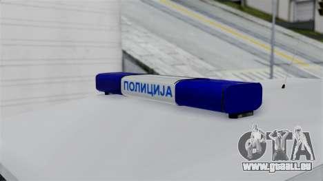 Land Rover Defender Serbian Border Police pour GTA San Andreas vue de droite