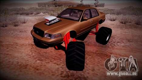 2003 Ford Crown Victoria Monster Truck für GTA San Andreas Seitenansicht