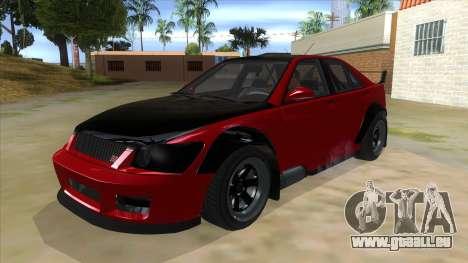 GTA V Karin Sultan RS 4 Door für GTA San Andreas Innenansicht
