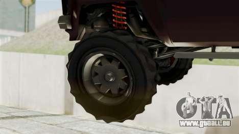 GTA 5 Karin Technical Cleaner IVF pour GTA San Andreas sur la vue arrière gauche