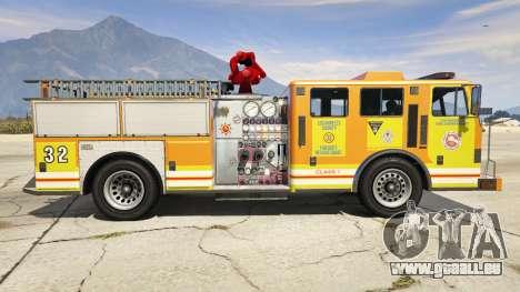 GTA 5 Los Angeles Fire Truck linke Seitenansicht