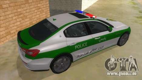 Maserati Iranian Police pour GTA San Andreas vue de droite