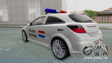 Opel-Vauxhall Astra Policia pour GTA San Andreas vue de droite