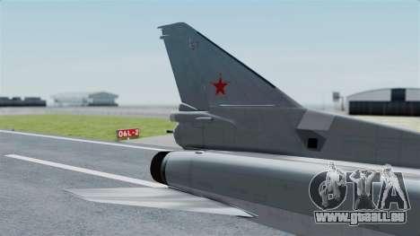 TU-22M3 Gris pour GTA San Andreas sur la vue arrière gauche