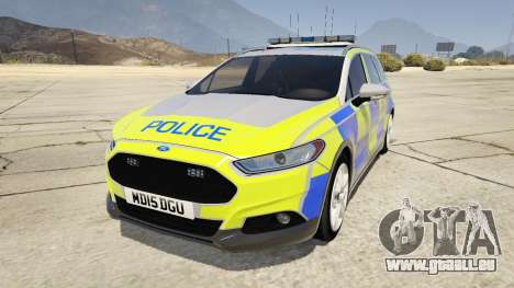 2014 Police Ford Mondeo Dog Section pour GTA 5