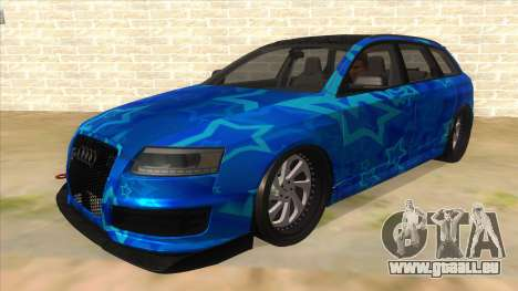 Audi RS6 Blue Star Badgged pour GTA San Andreas