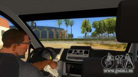 Mercedes Benz Vito Romania Police pour GTA San Andreas vue intérieure