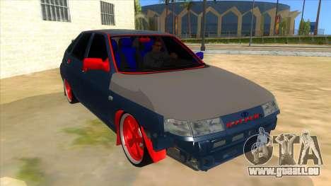 VAZ 2112 Hobo pour GTA San Andreas vue arrière