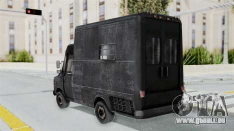 Le fourgon de la police de RE Outbreak pour GTA San Andreas laissé vue
