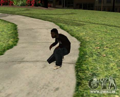 Black Madd Dogg (Thug life) für GTA San Andreas dritten Screenshot