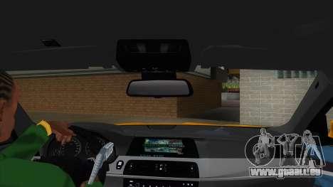 BMW M5 F10 für GTA San Andreas Innenansicht