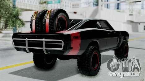 Dodge Charger 1970 Off Road  F&F7 pour GTA San Andreas laissé vue