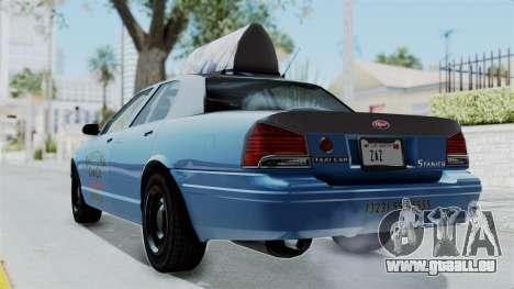 GTA 5 Vapid Stanier II Taxi pour GTA San Andreas laissé vue