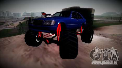 Mercedes-Benz W140 Monster Truck für GTA San Andreas Seitenansicht