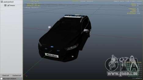 GTA 5 2014 Police Ford Mondeo Dog Section rechte Seitenansicht