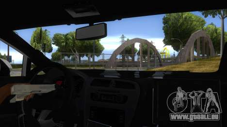 Seat Leon Cupra Romania Police für GTA San Andreas Innenansicht
