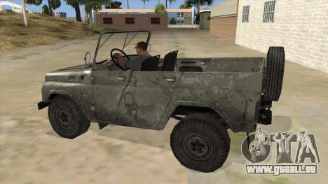 UAZ-469 Old Green Rust für GTA San Andreas linke Ansicht
