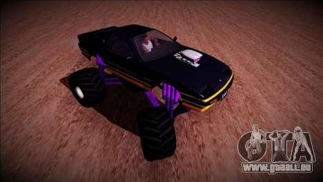 GTA 5 Imponte Ruiner Monster Truck für GTA San Andreas Rückansicht