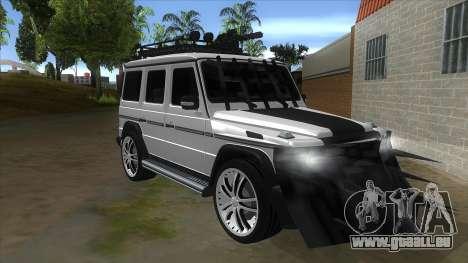 Mercedes-Benz G55 Response für GTA San Andreas Rückansicht