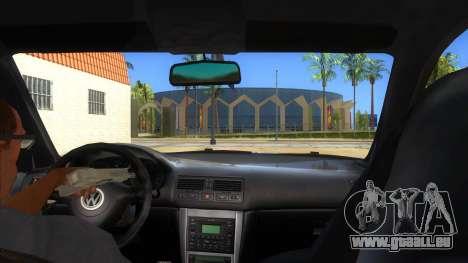 Volkswagen Golf R32 Hatsune Miku Itasha pour GTA San Andreas vue intérieure