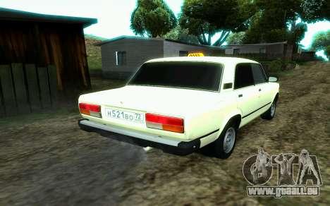 VAZ 2107-Taxi für GTA San Andreas linke Ansicht
