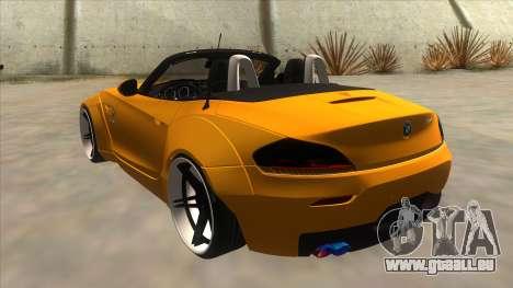 BMW Z4 Liberty Walk Performance für GTA San Andreas zurück linke Ansicht
