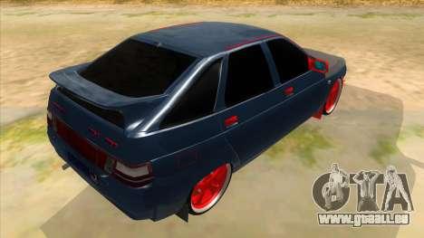 VAZ 2112 Hobo pour GTA San Andreas vue de droite
