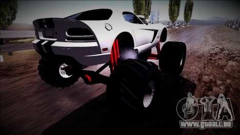 Dodge Viper SRT10 Monster Truck pour GTA San Andreas laissé vue