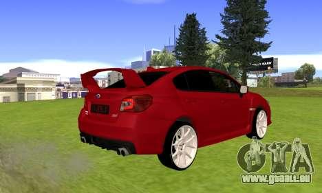 Subaru WRX STI 2015 pour GTA San Andreas sur la vue arrière gauche