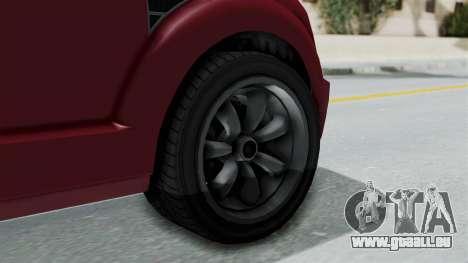 GTA 5 Vapid Radius IVF pour GTA San Andreas sur la vue arrière gauche