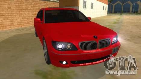 BMW 760 LI pour GTA San Andreas vue arrière