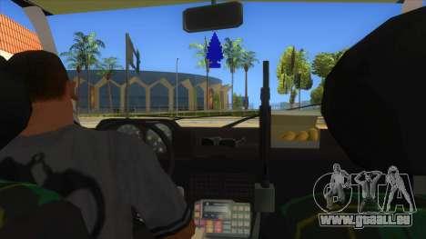 Yugo GV Police pour GTA San Andreas vue intérieure