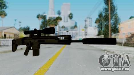 SCAR-20 v1 Supressor pour GTA San Andreas