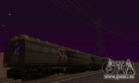 Batman Begins Monorail Train Vagon v1 pour GTA San Andreas vue de dessous