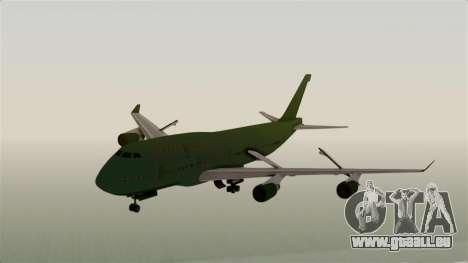 GTA 5 Jumbo Jet v1.0 pour GTA San Andreas sur la vue arrière gauche