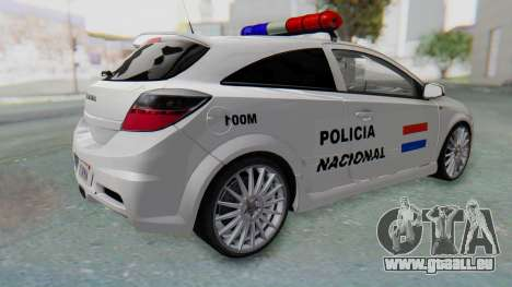 Opel-Vauxhall Astra Policia pour GTA San Andreas laissé vue