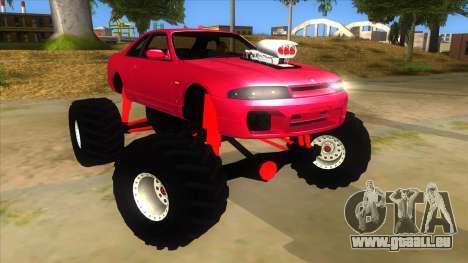 Nissan Skyline R33 Monster Truck pour GTA San Andreas vue arrière