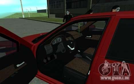 Lada 2170 Priora pour GTA San Andreas vue arrière