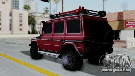 Mercedes-Benz G500 Off-Road v2.0 pour GTA San Andreas laissé vue