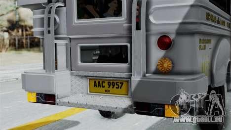 Jeepney Philippines pour GTA San Andreas vue de côté
