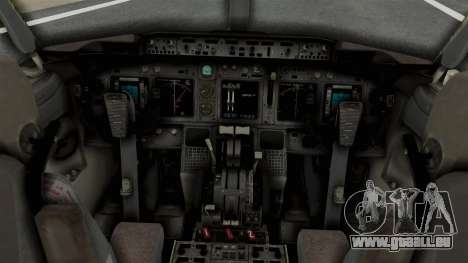Boeing 737-800 Business Jet Indian Air Force für GTA San Andreas rechten Ansicht