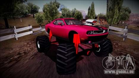 2009 Dodge Challenger SRT8 Monster Truck für GTA San Andreas rechten Ansicht
