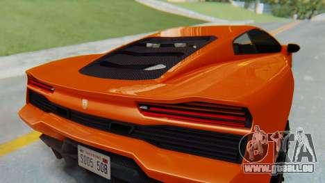 GTA 5 Pegassi Vacca IVF pour GTA San Andreas vue intérieure