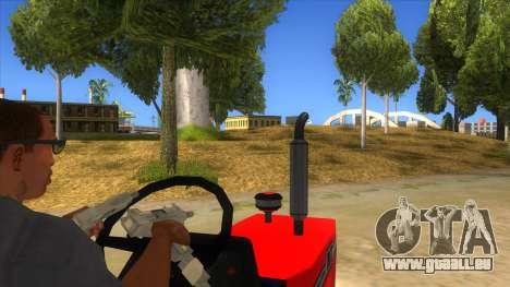 IMT Traktor pour GTA San Andreas vue intérieure